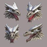 Tête de dragon Photographie stock