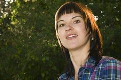 Tête de femme en parc Image libre de droits