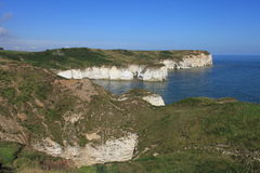 Tête de Flamborough regardant à la mer Photographie stock