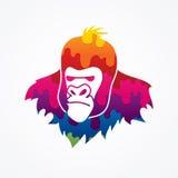 Tête de gorille Images libres de droits