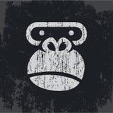 Tête de gorille, singe de logo, phoque sur un T-shirt illustration stock