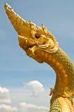 Tête de grande statue de Naga Photos stock