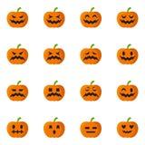 Tête de Halloween de potiron Image libre de droits