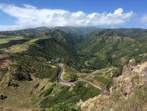 Tête de Kahakuloa d'ontop de vue, Maui Images libres de droits