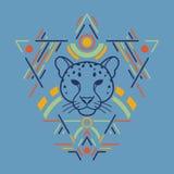 Tête de léopard dans le cadre Photos libres de droits