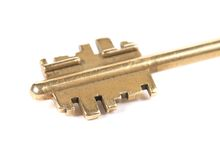 Tête de la clé en bronze photos stock