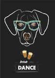 Tête de Labrador sur le fond noir Illustration Libre de Droits