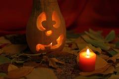 Tête de lanterne de potiron de Halloween Image libre de droits