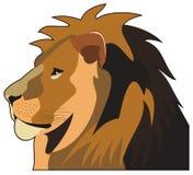 Tête de lion illustration stock