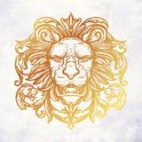 Tête de lion Illustration de vecteur Photographie stock libre de droits