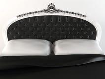 Tête de lit luxueuse avec la trame décorative. illustration stock