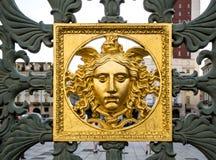 Tête de méduse Gorgon Palais royal à Turin, Italie Photo libre de droits