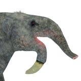 Tête de mammifère de Deinotherium illustration stock