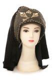 Tête de mannequin avec la coiffe de tudor photographie stock