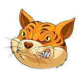 Tête de mascotte d'un chat illustration de vecteur