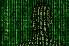 Tête de nombres binaire Image libre de droits
