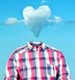 Tête de nuage de coeur Photos stock