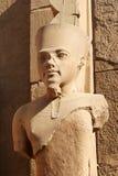 Tête de pharaon, temple de Karnak - Egypte Image libre de droits
