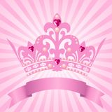 Tête de princesse illustration stock