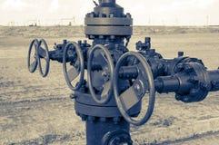 Tête de puits avec l'induit de soupape image stock