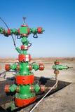 Tête de puits de production Photo libre de droits