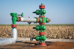 Tête de puits de production Image stock