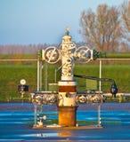 Tête de puits de production de gaz naturel Image libre de droits