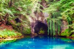 Tête de puits de rivière Krupaja en Serbie photos libres de droits