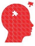 Tête de puzzle Photos libres de droits