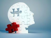 Tête de puzzle Photos stock