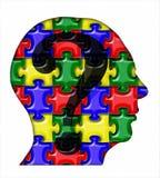 Tête de puzzle Image stock