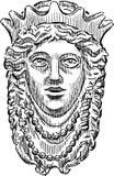 Tête de reine mythologique illustration libre de droits
