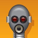 Tête de robot de medias Images libres de droits