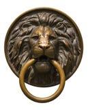 Tête de s de lion d'isolement 'avec un anneau Photos libres de droits