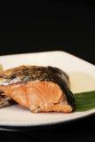 Tête de saumons de gril Photos libres de droits