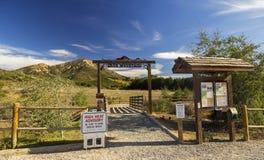 Tête de sentier de randonnée d'Iron Mountain dans Poway San est Diego County Inland Southern California photos libres de droits