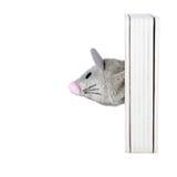 Tête de souris de jouet d'isolement sur le blanc Images stock