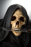 Tête de squelette de la mort de Halloween Photographie stock libre de droits