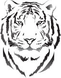 Tête de tigre dans l'interprétation noire 3 Photos stock