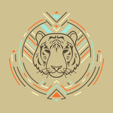 Tête de tigre dans le cadre Images stock