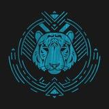 Tête de tigre dans le cadre Images libres de droits
