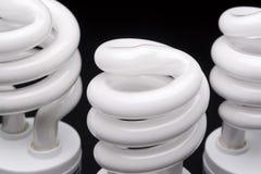 Tête de trois ampoules Photographie stock libre de droits