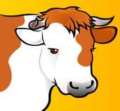 Tête de vache dans s Photographie stock libre de droits