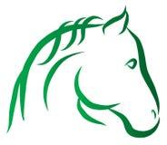 Tête de vecteur de cheval Photographie stock