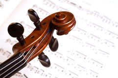 Tête de violon Images stock