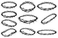 Tête des épines illustration stock
