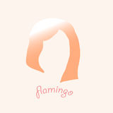 Tête des flamants roses logo Photo stock
