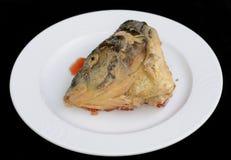 Tête des poissons bourrés Images stock