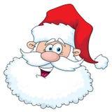 Tête drôle de Santa Illustration de Vecteur