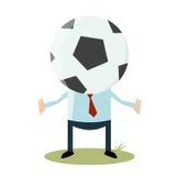 Tête du football de bande dessinée Photographie stock libre de droits